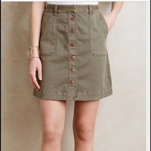 Anthropologie Skirt with buttons